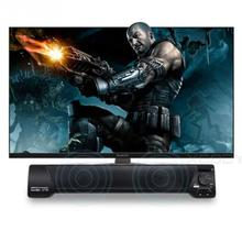 Multi-function soundbar to 3.5mm audio Stereo 2.0 Single sound bar Speaker System with MIC for TV computer phone Home karaoke(China)