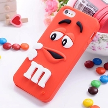 2015 new M&M Chocolate Case Rainbow Bean Phone Defender Silicon Back capa funda Cover For apple iPhone 6 Plus cases 5.5