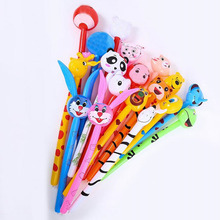 Kids Cartoon Animals Inflatable Balloon Sticks Toys Sports Meeting Cheerleaders Stick Party Favors Christmas Navidad New Year(China)