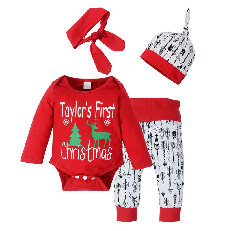 2328faec4776 Buy Baby Boys Girls Christmas Clothes Set Letter Print Red Romper ...