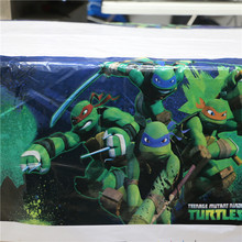 one-time plastic table cover teenage mutant ninja turtles design birthday party decorative waterproof tablecloth home map