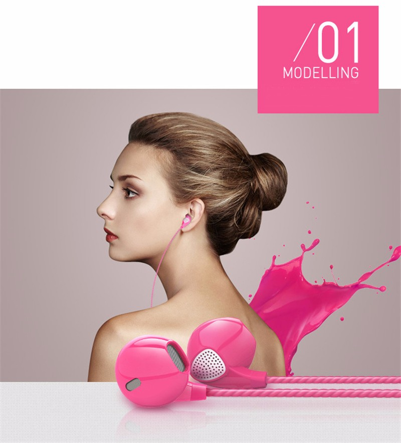 Earphone Headphone Metal Headset Earbuds With Mic for Archos 50b Neon 4Gb fone de ouvido