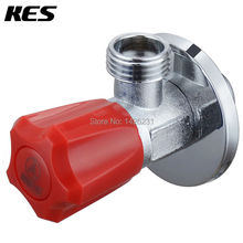 KES K116B-B/R Brass Quarter Turn Angle Valve G1/2 Inlet and Outlet Ceramic Disc Cartridge, Sand Sprayed