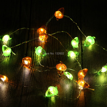 Battery 3M 40LED Acorn Nut Shaped LED String Lights, Waterproof Christmas Holiday Party Decorative Fairy Lights with Remote(China)