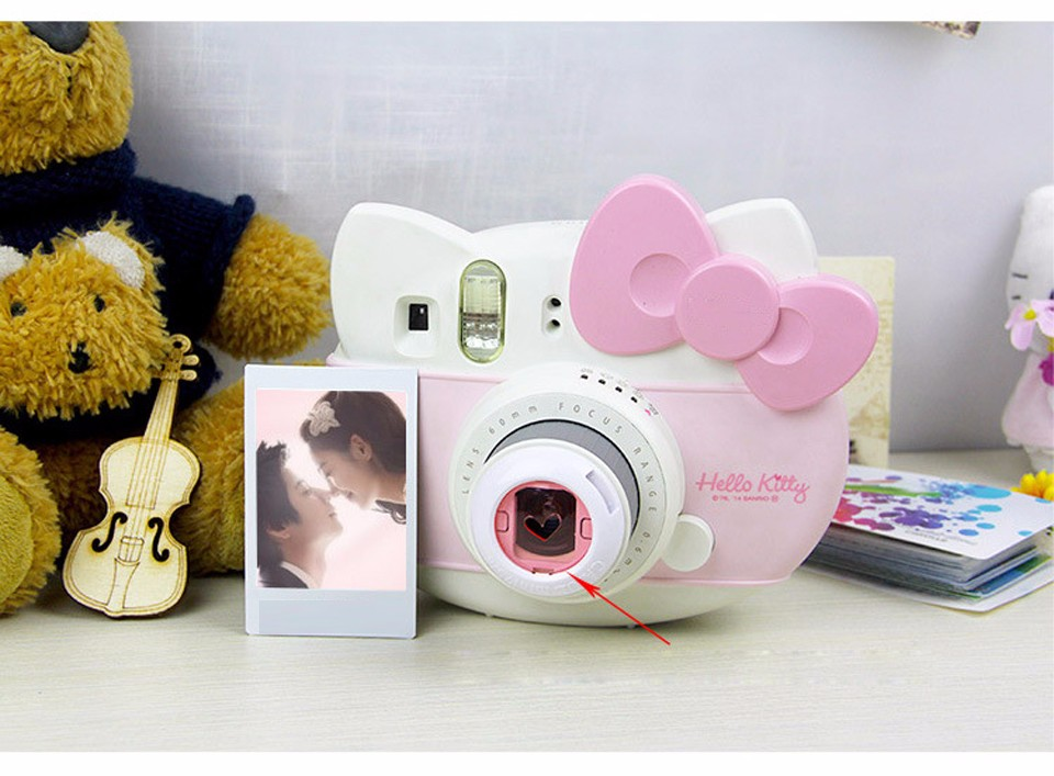 6 In 1 Colorful Filter For Fujifilm Instax Mini 8 7S Magic Lens Set Round Square Heart Shaped Instant Film Camera Accessories 8