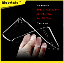 Ricestate Crystal Case For Lenovo Zuk Z1 Z2 Z2pro Vibe K5 Plus K6 P1m 0.6mm Ultrathin Transparent TPU Soft Silicon Cover Case
