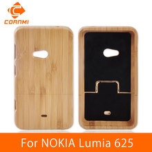 CORNMI For NOKIA Lumia 625 Back Cover Wood Case Brand New Phone Cases For NOKIA 625 Lumia Housing Woody Hard Protector Cover HTH(China)