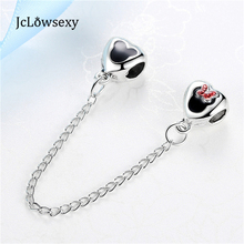 New Safety Chain Alloy Beads Lovely Carton Mouse Silver Bead Charm Fit Pandora Women Diy Bracelets & Bangles Jewelry YW15555