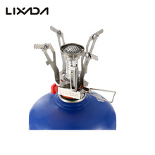 Lixada Gas Stove Super Lightweight Mini Pocket Stove Outdoor Hiking Cooking Burner Folding Camping Gas Stove 3000W Outdoor Stove