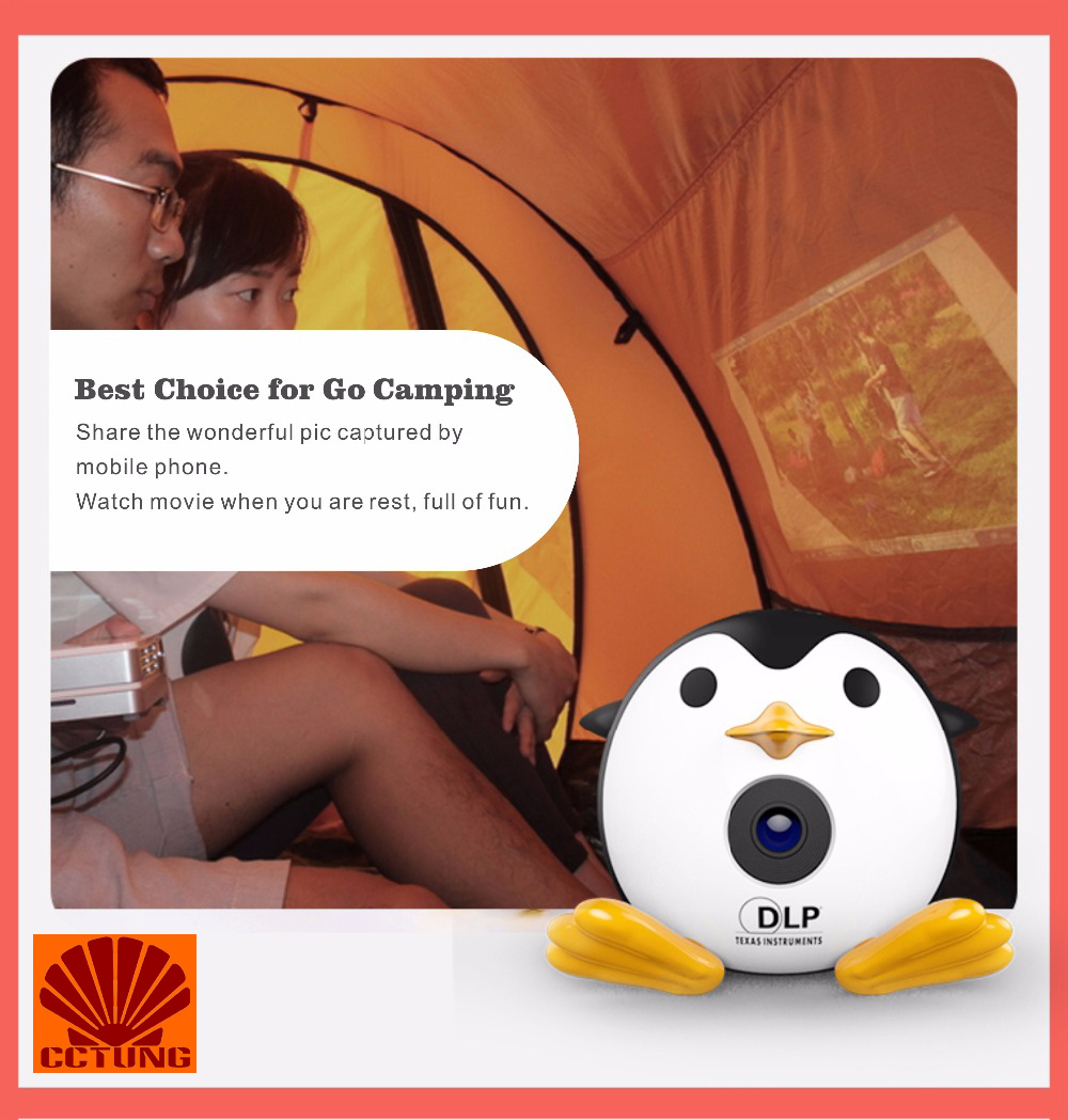 400Lumen Cute Penguin WIFI Micro DLP Mobile LED Projector Support 1080P TF USB HDMI AV & IOS Android Input with Battery Built-in_23