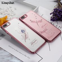KINGXBAR Cover for iPhone 7 7+ Plus Cover Crystals From Swarovski Diamond Case for iPhone 7 Plus Case iPhone7 Coque Phone Capa