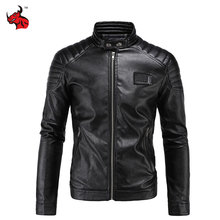 Buy Motorcycle Jacket PU Leather Vintage Retro Moto Faux Punk Leather Jackets Slim Fit Stand Collar Motocross Clothing for $52.20 in AliExpress store