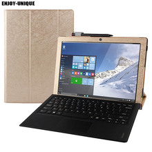 "Stand PU Leather Case Cover for Lenovo IdeaPad Miix 5 12.2"" Tablet Laptop Case for Lenovo Miix 510 Case(China)"