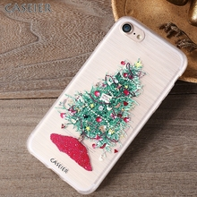 CASEIER Lovely Christmas Tree Case For iPhone 6 6s Plus 7 7 Plus 5 5s SE Cover Silicone Cases Back Cover For iPhone 5 5s SE 6 6S(China)