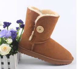 High Quality! genuine Sheepskin Real Fur 100% Wool women winter snow boots, China Brand boots(China (Mainland))