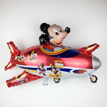 XXPWJ Free Shipping New Mickey & Minnie aircraft aluminum balloons children's birthday party balloon toy high quality