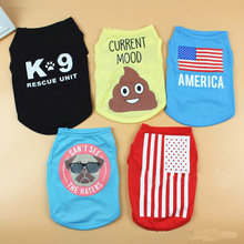 Pet supplies manufacturers wholesale summer pet clothes, light and comfortable, printed cat dog vest
