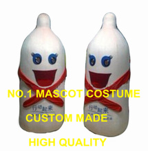 Buy condom mascot costume 1 piece adult size newly custom cartoon candom theme anime cosplay costumes carnival fancy dress kits 2925