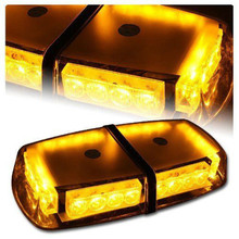 LED Mini Lightbar Strobe Beacon/Warning Light/Emergency Lightbar Light/Ambulance Lightbar/Amber Lightbar with High Duty Magnetic