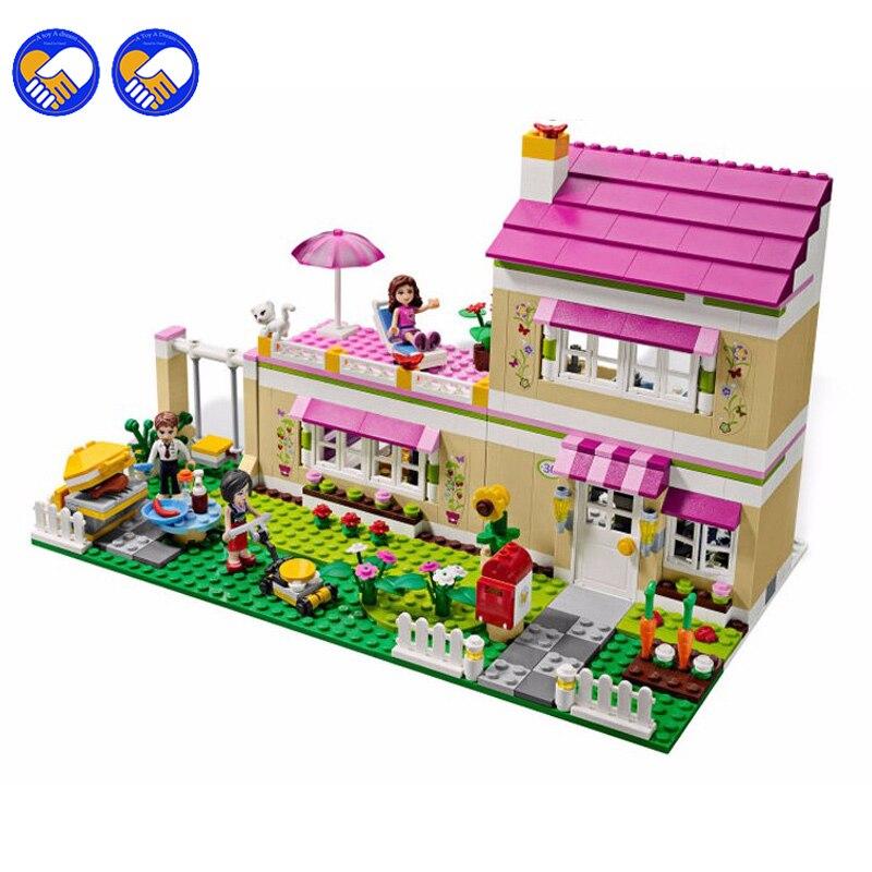 A toy A dream Hot 695 unids Casa Bela 10164 amigas de Oliver Oliver/Peter/Anna Modelo bloques de construccion conjunto de Lepin<br>