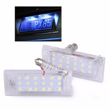 DWCX Clear Pair Error 6000K Free LED License Plate Light Lamps for BMW X5 E53 2000-2012 2013 2014 2015 X3 E83 2004 - 2014 2015(China)