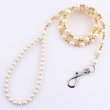 Luxury Beaded Pearl Dog Leash Pet Cat Chain Leads Leashes for Small Medium Dog Collar Accessories(China)