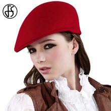 Aristocratic Fashion 100% Wool Beret Hat For Women Black Camel French Ladies Berets Church Hats(China)