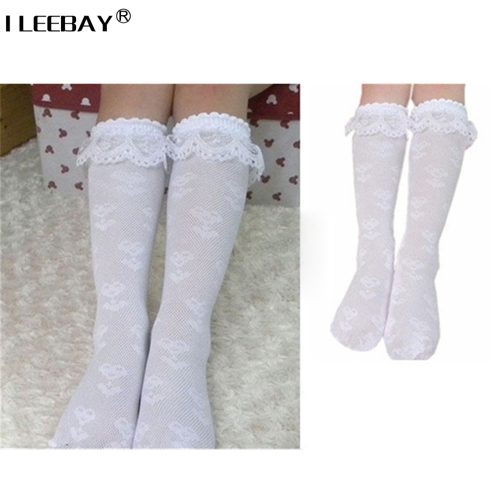 Kids Baby Girls Frilly Lace Cotton Socks Party Wedding School Ankle Socks 1-8Y