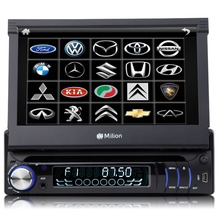 "7"" One Din Car DVD 1 Din Car Radio Single Din Car Audio with Detachable Front Panel Bluetooth Function & 32GB USB/SD Support"