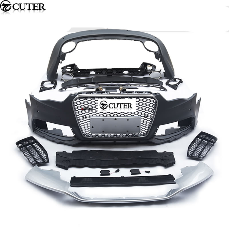 A5 RS5 style ABS Auto Front rear Bumper grill car body kit For Audi A5 RS5 2013UP(China)