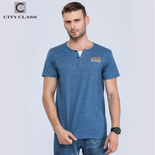 City class mens t-shirt tops tees fitness hip hop men cotton tshirts homme Fake two pieces clothing super big size 6160(China)