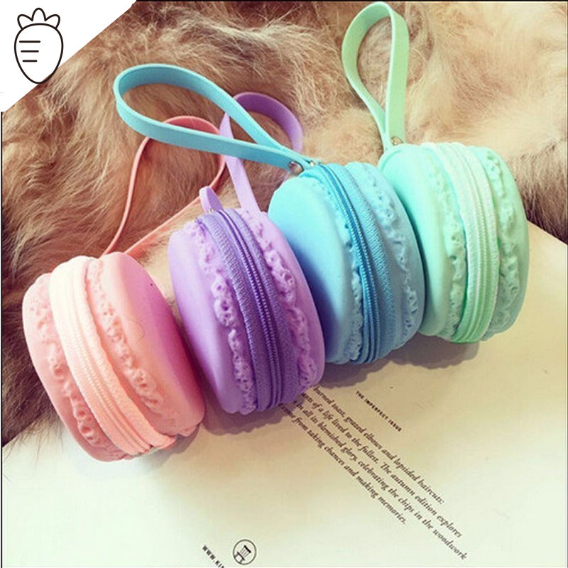 Fashion Cute Macaron Coin Purse Small Silicone Candy Girls Zipper Wallet Mini Euro Round Coin Holder Case for Kids Women Ladies<br><br>Aliexpress