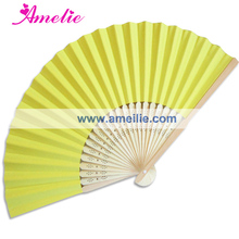 Free Shipping 50Piece/Lot Wholesale Cheap Party Paper Decoration Personalized Wedding Favours For Guests Wedding Paper Fan