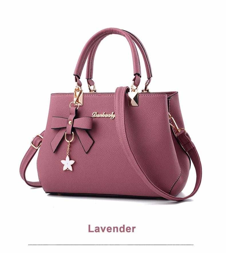 WENYUJH New 18 Elegant Shoulder Bag Women Designer Luxury Handbags Women Bags Plum Bow Sweet Messenger Crossbody Bag for Women 22