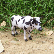 simualtion cow 22x14cm model plastic& furs dairy cow toy home decoration Xmas gift w5757