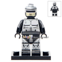 Custom Made Single Sale WM306 Robocop Plawres Sanshiro Mini Dolls Building Blocks Toys Children Gifts Drop Shipping