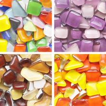 DIY Irregular Mosaic Tiles 250g Craft Material Bonsai Flowerpot Vase Wall Garden Decoration Glass Marbles Glitter Mosaic Beads(China)