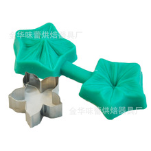 Flower fondant cake mold cookie stainless steel suit tool fondant cake baking goods(China)