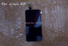 100% Original JY-G2F LCD display+Touch screen Panel Digitizer Accessories For Jiayu G2F GSM Smarphone Black Free shipping(China)