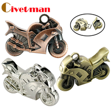 USB Flash Drives 64GB Metal motorcycle model USB memory stick 128GB, usb flash pen drives 8GB 16GB 32GB 64GB, Metal pendrives