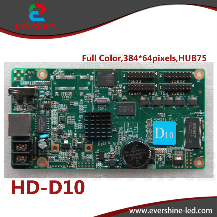 D10 HD-D10 RGB door lintel full color 256 gray scale taxi roof,bus advertising LED display controller card supports 384*64pixels<br><br>Aliexpress