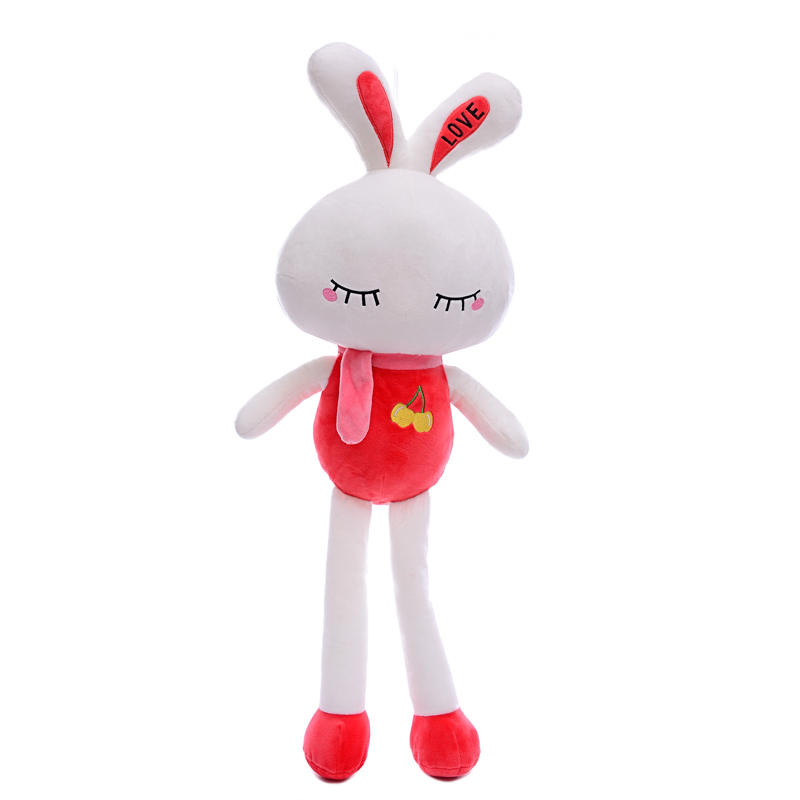 Plush Closing Eye Dolls  Stuffed Red Smiling Rabbit Toys Gift for Kids Bunny Toy Christmas Gifts for Girls Boys 26*9<br><br>Aliexpress