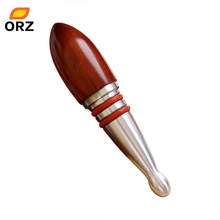 ORZ Wine Stopper Wooden And Stainless Steel Wine Cork Bottle Accessories Kitchen Bar Tools Case Good Gift(China)