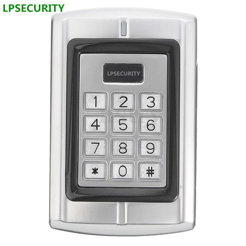LPSECURITY Keypad Access Control Wiegand 26 Door Card Reader 125Khz EM PIN for door lock gate opener<br>