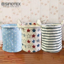 Folding Storage Bag 17*22*22cm/6.7*8.7*8.7'' Cotton&Linen For Clothes 1 PCS(China)