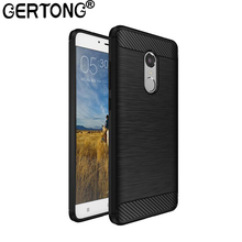GerTong Silicone Carbon Fiber Case For Xiaomi Redmi Note 4 Global 4X 4 Pro 4A 3S 3 Pro Mi A1 5X MiA1 Mi5X Soft TPU Cover Coque(China)
