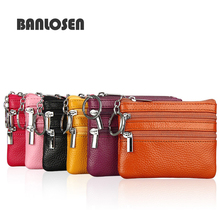 Genuine Leather Small Wallet Women Coin Bag Womens Wallets and Purses Leather Wallet Small Clutch Bag Carteira Feminina