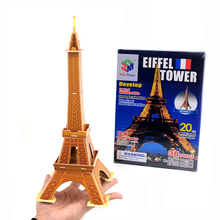 3D Puzzle Eiffel Tower Building Model Puzzles for World Great Architecture Diy Toys(China)
