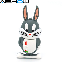 Humor rabbit USB Flash drive Real capacity 64GB 32GB 8GB 4GB Big ears rabbits Pen disk memory stick 16GB U disk