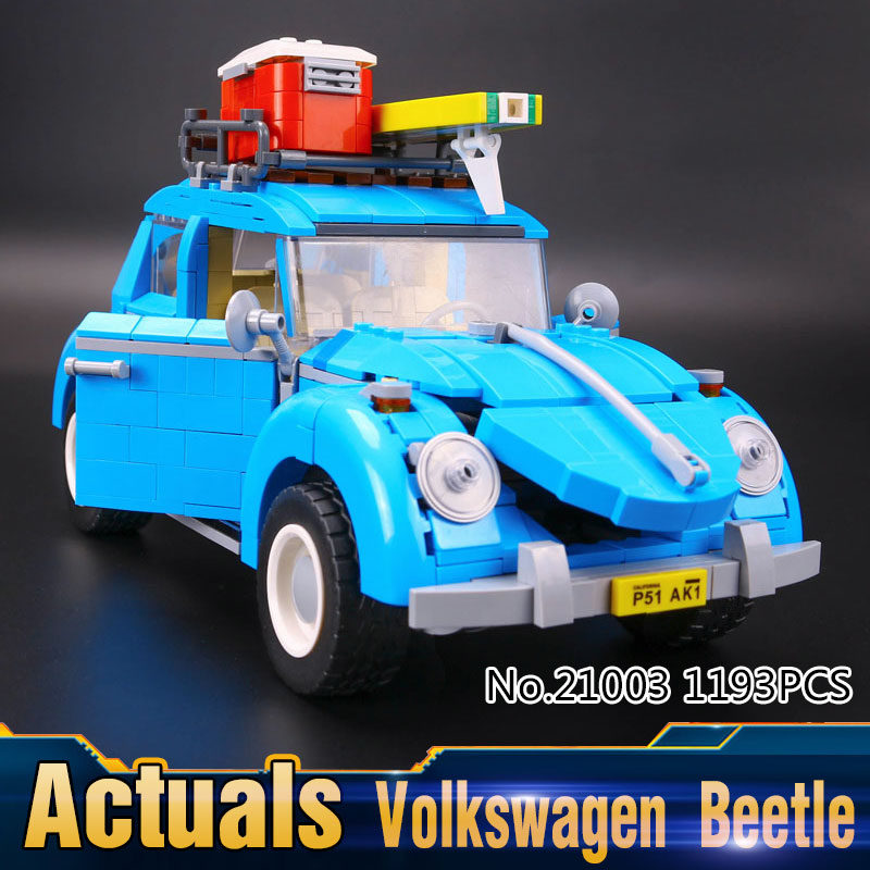 2017 New LEPIN 21003 1193Pcs Creator Volkswagen Bettle Model Building Kits  Block Bricks Compatible Children Toy 10252<br><br>Aliexpress